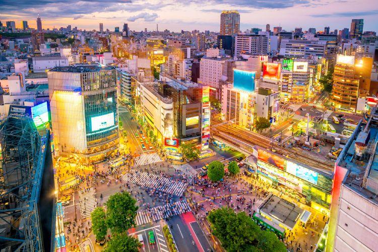 Quartier de Shibuya à Tokyo