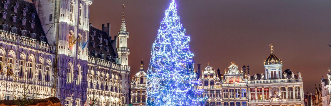 Grand Place de Bruxelles à Noël